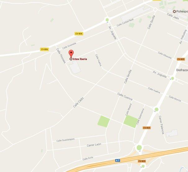Localização Intex Iberia